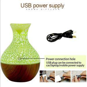 Green Vase Essential Oil Diffuser Humidifier Mini